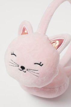 Orejeras de terciopelo - Rosa claro/Gato - NIÑOS | H&M ES 2 Earmuffs, Hello Kitty, Relleno, Fictional Characters, Pink, Velvet, Needlepoint, Personal Style, Gatos