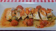 Receta de solomillos de pavo al horno con verduras