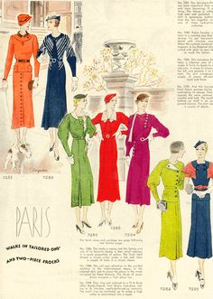 Here are fashion magazine clippings that Curley's wife would have looked at. She might have tried to make her own dresses at some point.