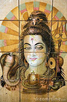Pintura hindú en Katmandu