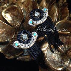 Our proposal of Soutache earrings. Available for orders  in Europe only.  - La nostra proposta di orecchini in Soutache. Disponibili solo per l'Europa - Nuestra propuesta de zarcillos en Soutache. Disponibles sólo para la venta en Europa. Email: info@lavativarios.com #earrings #orecchini #zarcillos #soutache #Europe #handmade #DIY #fattoamano #hechoamano #moda #fashion #TrendyAndBeyond #lavativarios @Lavativarios www.lavativarios.com