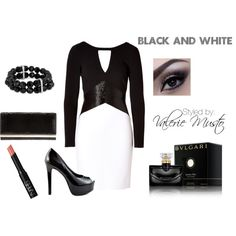 "#beauty #fashion #dresses ""Black and White"" by valerie-musto on Polyvore"
