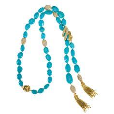 Turquoise Bead, Diamond