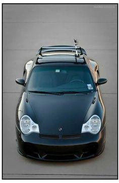996 turbo with rack. Porsche 996 Turbo, Vintage Porsche, Hot Cars, Automobile, Exotic Art, Bike, Ocean City, Muscle Cars, Vehicles