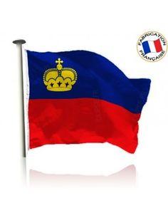 Drapeau Liechtenstein Made In France by Manufêtes