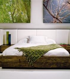 peroba wood bed vincent 6 / Environment Furniture