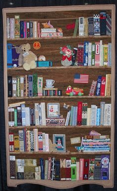 """Bookcase Before Kindles"" by Margaret Kessler - Full View"