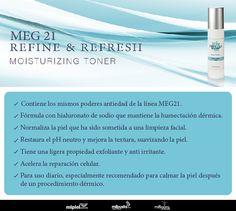 #Meg21MosturizingToner con #Supplamine es un tónico antiedad para el #rostro. #piel #salud #dermatología