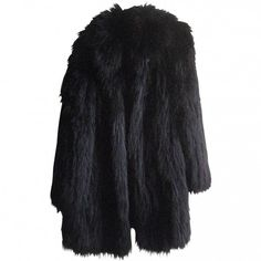 Pre-owned SONIA RYKIEL Black Fur Coat ($855) ❤ liked on Polyvore featuring outerwear, coats, jackets, fur, tops, sonia rykiel, sonia rykiel coat and fur coat