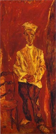 Little Pastry Cook, 1921, Chaim Soutine.  Art Experience NYC  www.artexperiencenyc.com/social_login/?utm_source=pinterest_medium=pins_content=pinterest_pins_campaign=pinterest_initial
