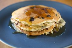 Yum!! Homemade Sprouted Einkorn Blueberry Pancakes- made with our new sprouted flour!