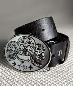 Hard Rock King Baby Enamel Skull Buckle with Belt Strap | Hard Rock Shop