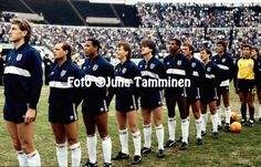 22.05.1985, Olympic Stadium, Helsinki, Finland..FIFA World Cup qualifying match, Finland v England. England line up before the match. From left: Terry Butcher, Ray Wilkins, Peter Barnes, Trevor Steven, Terry Fenwick, Viv Anderson, Trevor Francis, Kenny Sansom, Mark Hateley, Peter Shilton and Bryan Robson..©JUHA TAMMINEN
