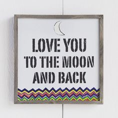 Natural Life, Wall Art: Love You to The Moon