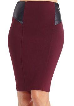 2b | Leatherette Inset Skirt - Skirts