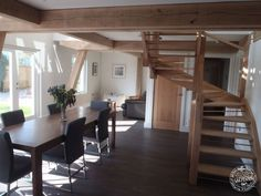 As part of a timber framed house we can create your oak staircase, whether it's a contemporary oak and glass staircase or more traditional oak curved stairs