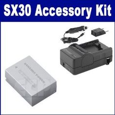 Canon PowerShot SX30 IS Digital Camera Accessory Kit includes: SDNB7L Battery, SDM-198 Charger. Canon PowerShot SX30 IS Digital Camera Accessory Kit includes the following items: 1) NB-7L Lithium-Ion Rechargeable Battery (7.4v 1300mAh) - Replacement For Canon NB-7L Battery  2) Mini Battery Charger Kit for the Canon NB-7L Battery - with fold-in wall plug, car & EU adapter