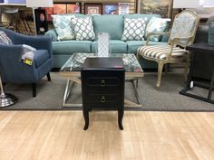 """FIND UNIQUE FURNITURE OF ALL SIZES ARRIVING DAILY AT NEW USES: Excellent Small Black Accent Table that measures 14"""" W by 14"""" D and 23"""" Tall."""