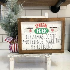 Christmas Central, Christmas In July, Christmas Signs, Wood Signs Home Decor, Coffee Bar Signs, Buddy The Elf, Christmas Coffee, Holiday Decorating, My Coffee