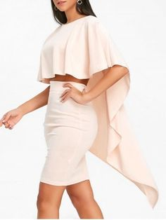 GET $50 NOW | Join RoseGal: Get YOUR $50 NOW!https://www.rosegal.com/long-sleeve-dresses/high-low-cape-and-bodycon-skirt-1702828.html?seid=5957462rg1702828