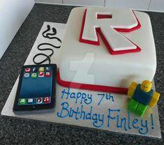 Roblox Cake with Sugar iPad by clvmoore on DeviantArt Happy 7th Birthday, Golden Birthday, 6th Birthday Parties, Birthday Fun, Roblox Birthday Cake, Roblox Cake, Roblox Gifts, Ipad Cake, Birthday Event Ideas