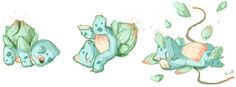 Level up...Somersaulting #BULBASAUR #Pokemon Embedded image permalink