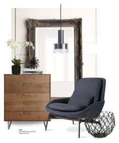 """""""Blu Dot Field lounge chair..."""" by gloriettequartet ❤ liked on Polyvore featuring interior, interiors, interior design, home, home decor, interior decorating, Blu Dot and CB2"""