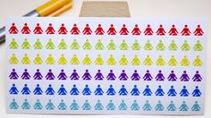 StickersSwissMade@Etsy - small stickers for every planner or bullet journal which is out there!  PLANNER STICKER || yoga || sport || small rainbow colored | for your planner or bullet journal #Yoga #BulletJournal #scrapbooking #PlannerStickers #journaling #JournalDecorations #JournalStickers #StickerSheet #sport #BujoStickers https://www.etsy.com/shop/StickersSwissMade?utm_source=outfy&utm_medium=api&utm_campaign=api