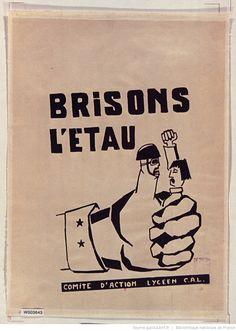[Mai 1968]. Brisons l'étau. Comité d'action lycéen C. A. L., Atelier populaire de Marseille : [affiche] / [non identifié]