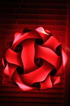Red Puzzle Lamp by GetLightMe on Etsy