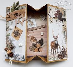 HobbyVision Design Team: scrap and chat 26 september door Karen Hemel Fun Fold Cards, Folded Cards, Diy Cards, 26 September, Card Tutorials, Winter Day, Diy And Crafts, Christmas Cards, Gift Wrapping