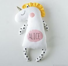 Unicorn soft toy with personalization – shop online on Livemaster with shipping - EUX5ZCOM