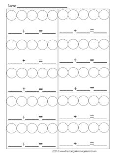 FREE! Spill and count to 5! Students spill 5 counters and color the circles to show ways to make 5!