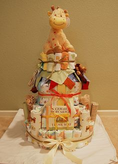 baby shower diaper cake by pixelpackinmama, via Flickr