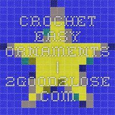 Crochet Easy Ornaments | 2good2lose.com