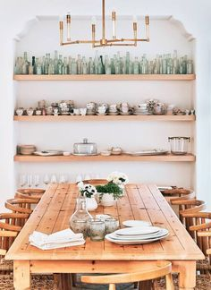 chic open shelving