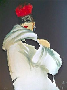 René Gruau — La Toque Rouge 1988.