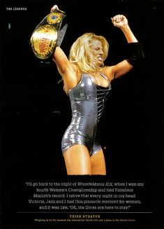 ★ WWE Diva - Trish Stratus ★ Women's Champion ★ Diva of the Decade ★ Babe of the Year ★ Trish Stratus, Wrestling Superstars, Women's Wrestling, Wwe Trish, Sports Fights, Ufc Boxing, Wwe Female Wrestlers, Wwe Champions, Lucha Libre