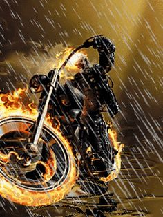 Animated ghost rider on rain wallpapers for mobile phone Ghost Rider Johnny Blaze, Ghost Rider Marvel, Marvel Art, Marvel Heroes, Ms Marvel, Captain Marvel, Marvel Comics, Catrina Tattoo, Spirit Of Vengeance