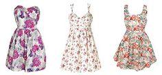 Modelos e Fotos de Vestidos Floridos da Moda Verão