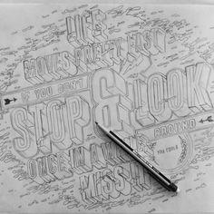 Ilustración y lettering de Ben Johnston