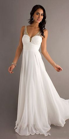 white prom dress - double as a rehearsal dress