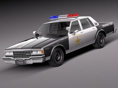 Chevrolet Caprice Sheriff 1978 Police Car Model available on Turbo Squid, the world's leading provider of digital models for visualization, films, television, and games. Cars Usa, Us Cars, General Motors, Radios, Chevy, Old Police Cars, 4x4, Automobile, Old American Cars