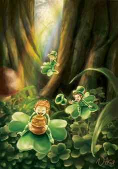 """Leprechauns. Don't you thinks it's a little ironic that we always think of Irish faerie folk on a holiday fabricated to honor the driving OUT of such beliefs...? I guess it was too popular a belief to crush out of them. And of course the uninformed and careless just lump them in with a Catholic holiday they just think """"It's all Irish to me."""""""