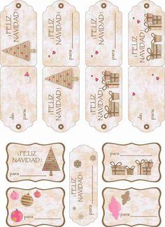 ETIQUETAS PARA NAVIDAD Christmas Tags To Print, Christmas Gift Wrapping, Christmas Gift Tags, Christmas Diy, Christmas Graphics, Christmas Crafts, Christmas Decorations, Christmas Arrangements, Holiday Pictures