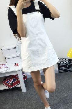 super Ideas for moda coreana juvenil jeans Ulzzang Fashion, Harajuku Fashion, Kawaii Fashion, Cute Fashion, Girl Fashion, Fashion Looks, Fashion Outfits, Fashion Clothes, Fashion Ideas
