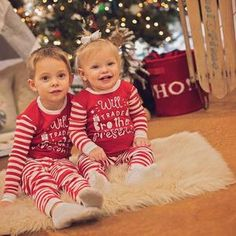 Will Trade Brother Sister for Presents Set of Matching Infant or Kids Christmas Pajamas Baby Christmas Pjs, Merry Christmas, Christmas Gifts, Kids Pajamas, Brother Sister, Matching Outfits, Infant, Sisters, Presents