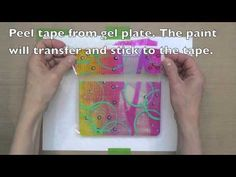 Gelli Arts Newest Tutorial Video - Gelli Transfer Film! Gelli Transfer Prints — and a Giveaway! Gelli plates have a unique surface that allows you to pull monotypes on clear adhesive film! Watch this video and see how easy it is to do! Diy Stamps, Gelli Plate Printing, Transfer Printing, Transfer Tape, Gelli Arts, Mixed Media Tutorials, Art Journal Techniques, Plate Art, Mix Media