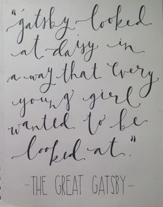 The great gatsby quote, in stunning hand-lettering. Love it!