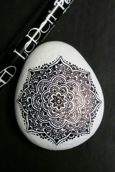 ••• Alaska Art Stones ••• Done earlier today (I don't know how the chores are getting done!) Henna design on Alaska river rock...